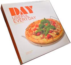 Pizzakivi pyöreä 33cm + tarjoiluteline, DAY