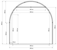 Pressutalli 8m x 4m, korkeus 4m, 450g/m2
