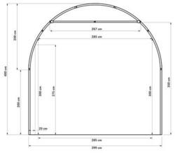 Pressutalli 10m x 4m, korkeus 4m, 450g/m2