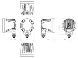 Ocean Vision LED-työvalo 30W, 12-60V, 2700lm, 28ast