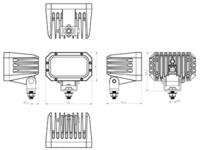 Ocean Vision LED-työvalo 60W, 12-60V, 5400lm, 28ast
