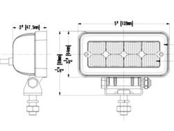 SAE LED-työvalo 12W, 9-36V, 1136lm