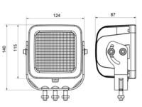 SAE LED-työvalo 48W, 9-36V, 3520lm, combo