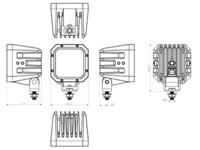 Bullpro LED-työvalo 80W, 12-60V, 7200lm