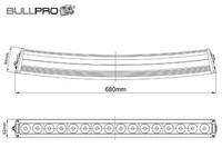 Bullpro LED-työvalopaneeli käyrä, 160W, 9-36V, 14400lm