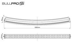 Bullpro LED-työvalopaneeli käyrä, 240W, 9-36V, 21600lm