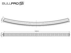Loppu! Bullpro LED-työvalopaneeli käyrä, 320W, 9-36V, 24500lm
