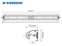 X-Vision Domibar X, LED Lisävalo, 128W, 558,8mm, Ref 37,5