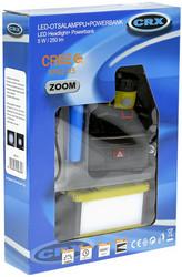 CRX LED otsalamppu 250 lumen + powerbank setti