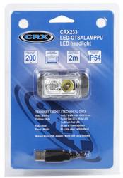 CRX LED otsalamppu 200 lumen, ladattava