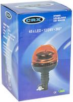 Ennakkomyynti! CRX LED Tappimajakka, joustava, 12/24V, 2 välkkytoimintoa