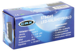 CRX LED Välähdysvalo 88mm, 12/24V
