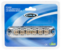 CRX LED Välähdysvalo 130mm, 12/24V