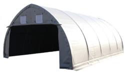 Pressuhalli Ranch, 12,8m x 6,1m, korkeus 3,66m, PVC 900g/m2