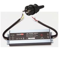 LED muuntaja pistotulpalla 100W, 12V, IP67, myös ulkokäyttöön
