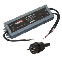 LED muuntaja pistotulpalla 250W, 12V, IP67, myös ulkokäyttöön