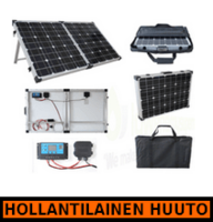 Brightsolar 100W kannettava ja taitettava aurinkopaneeli, sis. säätimen - HOLLANTILAINEN HUUTOKAUPPA!