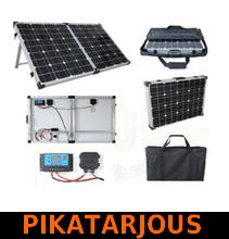 Brightsolar 200W kannettava ja taitettava aurinkopaneeli, sis säätimen - PIKATARJOUS!