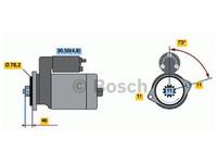 Starttimoottori Bosch 0001123036