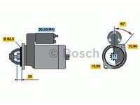 Starttimoottori Bosch 0001231006