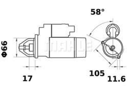 Starttimoottori Mahle IS1066 (Yanmar)