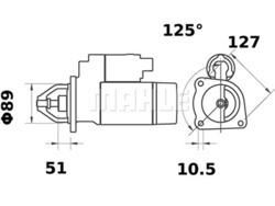 Starttimoottori Mahle IS0030 (K.H.D.)
