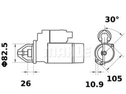 Starttimoottori Mahle IS0565 (K.H.D.)