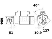 Starttimoottori Mahle IS0896 (Massey Ferguson)