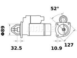 Starttimoottori Mahle IS1273 (Case, Massey Ferguson, Wille)