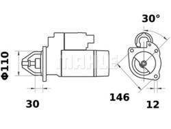 Starttimoottori Mahle IS0366 (Fiat)
