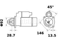 Starttimoottori Mahle IS0632 (Massey Ferguson)
