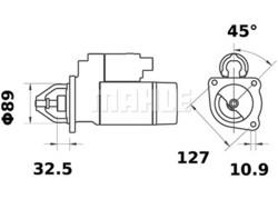 Starttimoottori Mahle IS0526 (JCB, Leyland, Massey Ferguson, Valmet, Valtra)