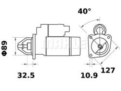 Starttimoottori Mahle IS0629 (Case, JCB, Valmet, Valtra, Volvo BM)
