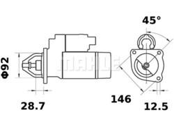 Starttimoottori Mahle IS0630 (Case, Lister, Massey Ferguson)