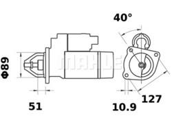 Starttimoottori Mahle IS0766 (Volvo BM)