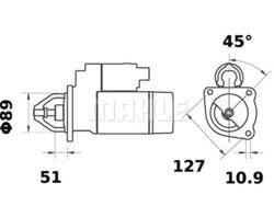 Starttimoottori Mahle IS0179 (Sampo Rosenlew, Valmet, Valtra, Zetor)