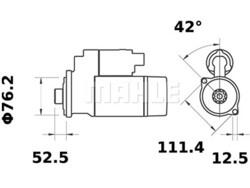 Loppu! Starttimoottori Mahle IS1041 (Audi, Ford, Seat, Skoda, Volkswagen)