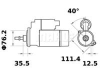 Starttimoottori Mahle IS0723 (Seat, Volkswagen)