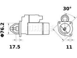 Loppu! Starttimoottori Mahle IS0717 (Ford, Ford USA, Mercury)