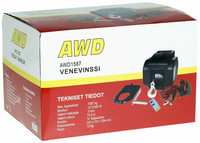 AWD Venevinssi 12V, 1587kg, kauko-ohjain + langaton kauko-ohjain