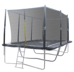 Ennakkomyynti! iSport Air 4,57 x 3 m 104 jousta trampoliini turvaverkolla