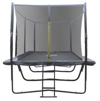 Ennakkomyynti! iSport Air Black 5,8 x 4 m 144 jousta trampoliini turvaverkolla