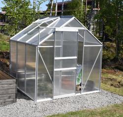 Ennakkomyynti! Green Land alumiinirunkoinen kasvihuone 2,3 m², musta