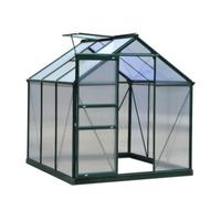 Green Land alumiinirunkoinen kasvihuone 3,6 m², musta