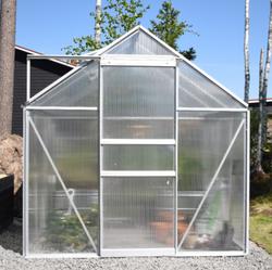 Ennakkomyynti! Green Land alumiinirunkoinen kasvihuone 4,8 m², musta