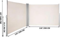 Green Land sivumarkiisi 280G 160x600cm, beige
