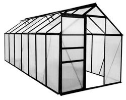 Green Land alumiinirunkoinen kasvihuone 8,2 m², musta - PIKATARJOUS!