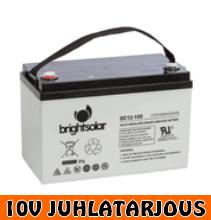 Brightsolar DC12-100 AGM akku, huoltovapaa - 10V JUHLATARJOUS!
