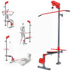 K-Sport seinään kiinnitettävä ylä-/alatalja kiinteällä penkillä