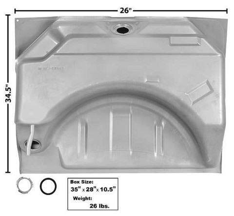 Polttoainetankki Charger Ja Coronet 1966-67